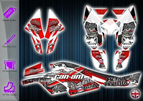CAN AM DS450 STICKERS - GRAPHICS KIT - DECALS CANAM DS 450 ATV GRAPHICS KIT - 254912252633